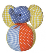 Aurora Gingham 7-inch Dots Elephant Chime