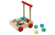 [HSB] Chad-Valley Wooden Baby Trolley with Pack of 10 Safety Door Stoppers
