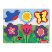 Melissa and Doug - Flower Garden Chunky Puzzle Scene - Puzzle