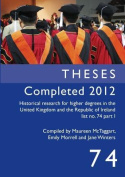 Theses Completed 2012