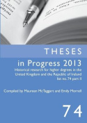 Theses in Progress 2013