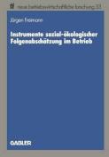 Instrumente Sozial-Okologischer Folgenabschatzung Im Betrieb [GER]