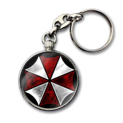 RESIDENT EVIL UMBRELLA CORP. Video Game Quality Chrome Double Sided Keyring