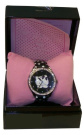 Orologio Hello Kitty Face Nero Watches Polso London with Diamond Stone in Gift Box - Black