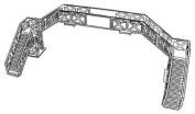 Dapol Model Railway Footbridge Plastic Kit - OO Scale 1/76