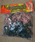 Combat Mission Toy 100 Piece of Army Plastic Soldiers Various Poses and 2 Colours