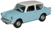 Oxford Diecast Ford Anglia Caribbean Turquoise/White # N105007