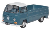 Oxford Diecast 76VW021 VW Bay Window Pick Up in Neptune Blue & White 1:76