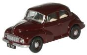oxford maroon morris minor MM car 1.76 scale diecast model
