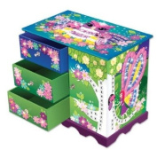 The Orb Factory Sticky Mosaic Fairy Forest Jewellery Box