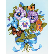 "Learn To Paint! Paint By Number Kit 23cm X12""-Pansy Bouquet"