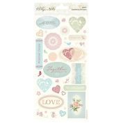 Papermania Vintage Notes Cardstock Stickers-