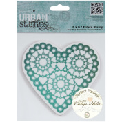 "Papermania Vintage Notes Urban Stamps 13cm X5""-Hearts"