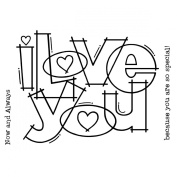 "Woodware Clear Stamps 8.9cm X5.5""-Huge Love"