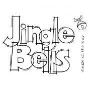 "Woodware Clear Stamps 8.9cm X5.5""-Huge Jingle Bells"