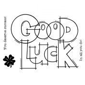 "Woodware Clear Stamps 8.9cm X5.5""-Huge Good Luck"