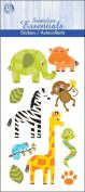 Essentials Dimensional Stickers 7cm X17cm Sheet-On The Safari