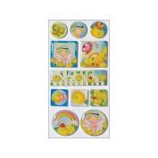 Irene's Garden Wings'n'Things Epoxy Stickers-Flowers
