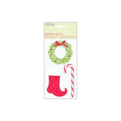 Christmas Cheer 3-D Stickers 7.6cm x 14cm Sheet