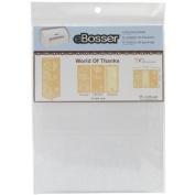 eBosser Embossing Folders Letter Size-World Of Thanks