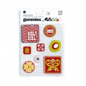 Olivia Gummies Rubber Stickers 8/Pkg-