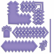 Spellbinders Shapeabilities Cut, Fold & Tuck Die-Diamond Strips And Accents