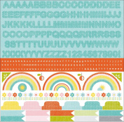 Kaisercraft SS133 Fine & Sunny Cardstock Stickers 30cm . x 30cm . - Alpha - Pack of 5