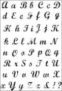 Kaisercraft Clear Stamp Set - Vintage Script Alphabet CS782