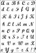 Kaisercraft Clear Stamp Set - Vintage Script Alphabet CS782