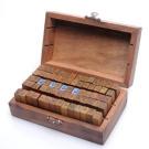 Set of 70pcs Vintage Style Wooden Rubber Alphabet & Number Stamps