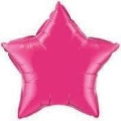 Hot Pink Star 50cm Foil Balloon