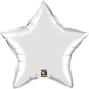 Silver Star 50cm Foil Balloon