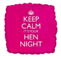 Hen Party - Keep Calm Its Your Hen Night 46cm Foil Balloon