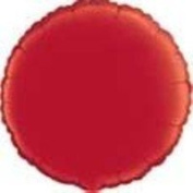 Red Round 50cm Foil Balloon
