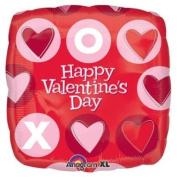 46cm Valentine's Day Red Xo Balloon