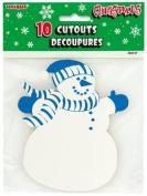 13cm Mini Christmas Snowman Cutouts - 25cm a pack