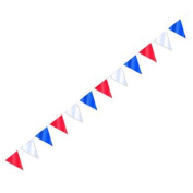 10 Metre Red, White And Blue Bunting 20 Flags