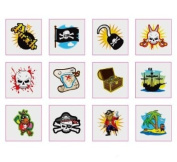 12 x Pirate Temporary Tattoos - Party Bag Fillers