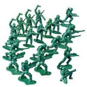 Pack of 24 - Mini Plastic Army Soldiers Figures - Great Military Army Loot Bag Party Bag Fillers
