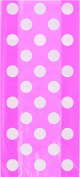 Cello Bags 28cm x 13cm 20/Pkg-Hot Pink Decorative Dots