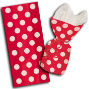 Cello Bags 28cm x 13cm 20/Pkg-Ruby Red Decorative Dots