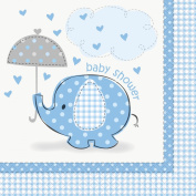 Umbrellaphants Blue Luncheon Napkins - Pack of 16