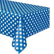 Royal Blue Polka Dot Party Tablecover