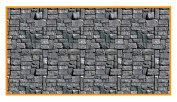 Stone Wall Backdrop Party Accessory (1 count)