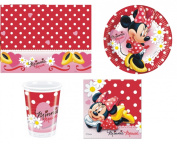 DISNEY MINNIE MOUSE RED POLKA DOT BIRTHDAY PARTY TABLEWARE PACK NAPKINS PLATES CUPS TABLECOVER