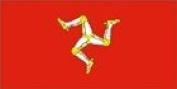 46cm x 30cm Isle Of Man Hand Waving Flag With Wooden Stick