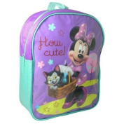 DISNEY MINNIE MOUSE GIRLS SCHOOL NURSERY BACKPACK SHOULDER RUCKSACK BAG PURPLE