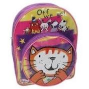 Poppy Cat Boys or Girls Kids Backpack / Nursery School Bag Rucksack Travel Bag with Front Pocket - Alma, Owl, Zuzu, Mo and Egbert