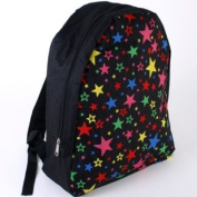 Star design Black Backpack Rucksack 38cm x 31cm school fashion