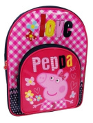 Peppa Pig - Pink and Red LOVE Backpack with Front Pocket / Rucksack / School Bag